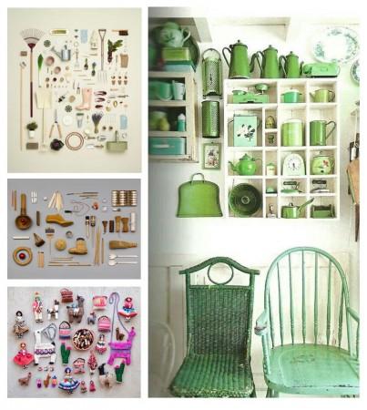 Colección jardinero, zapatero, figuras textil, color verde. Visto en Pinterest.