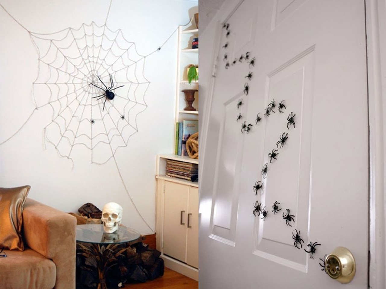 Decoraci n halloween for Decoracion para pared negra