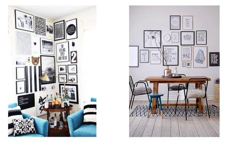 Interior de salón e interior de comedor vistos en Pinterest.