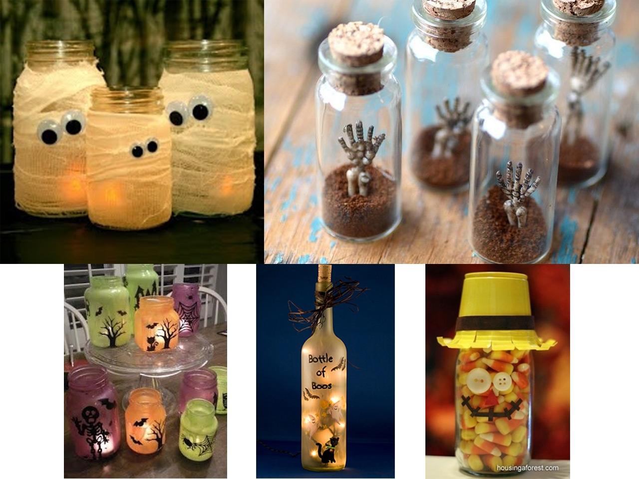 Decoraci n halloween for Decoraciones de botes de plastico