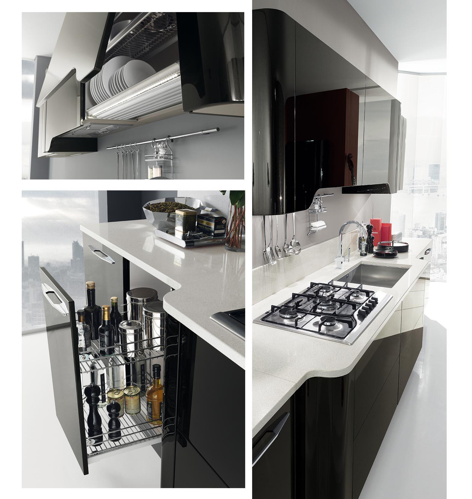 S a las cocinas negras un estilo valiente y elegante blog con ideas de decoraci n ideas - Cocina negra y rosa ...