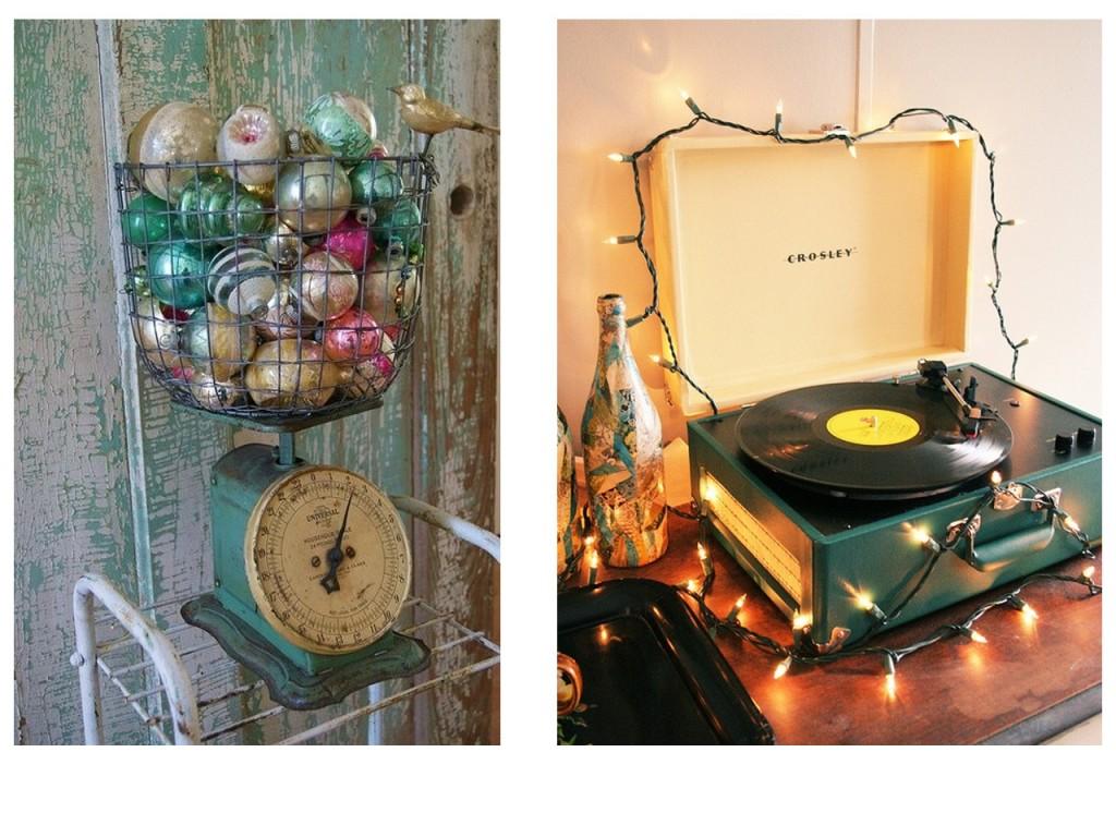 Báscula vintage vista en Pinterest y tocadiscos visto en Flickr.