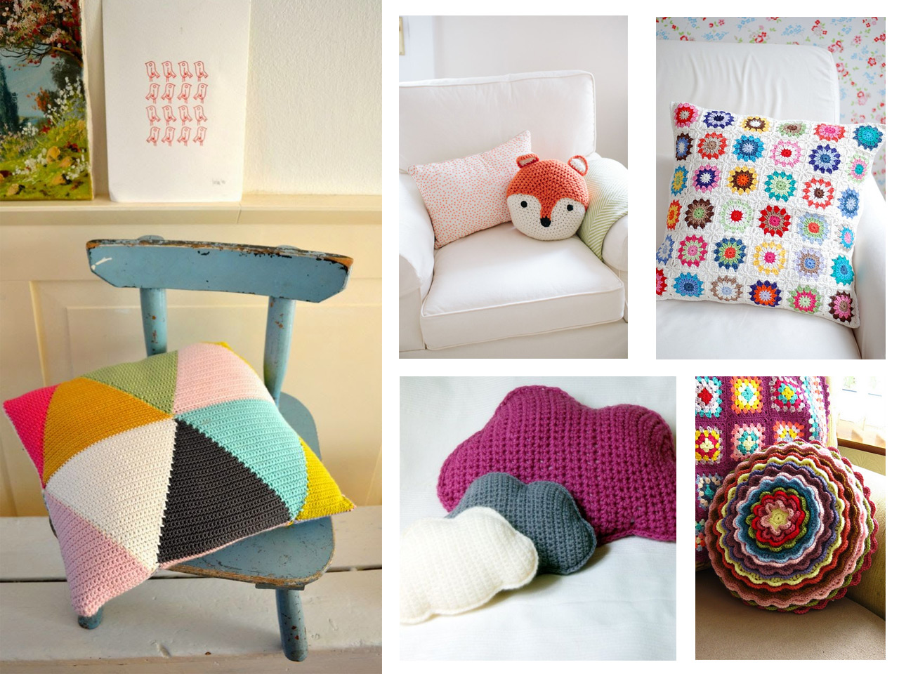 10 propuestas para decorar tu casa con crochet for Manualidades faciles para decorar la casa