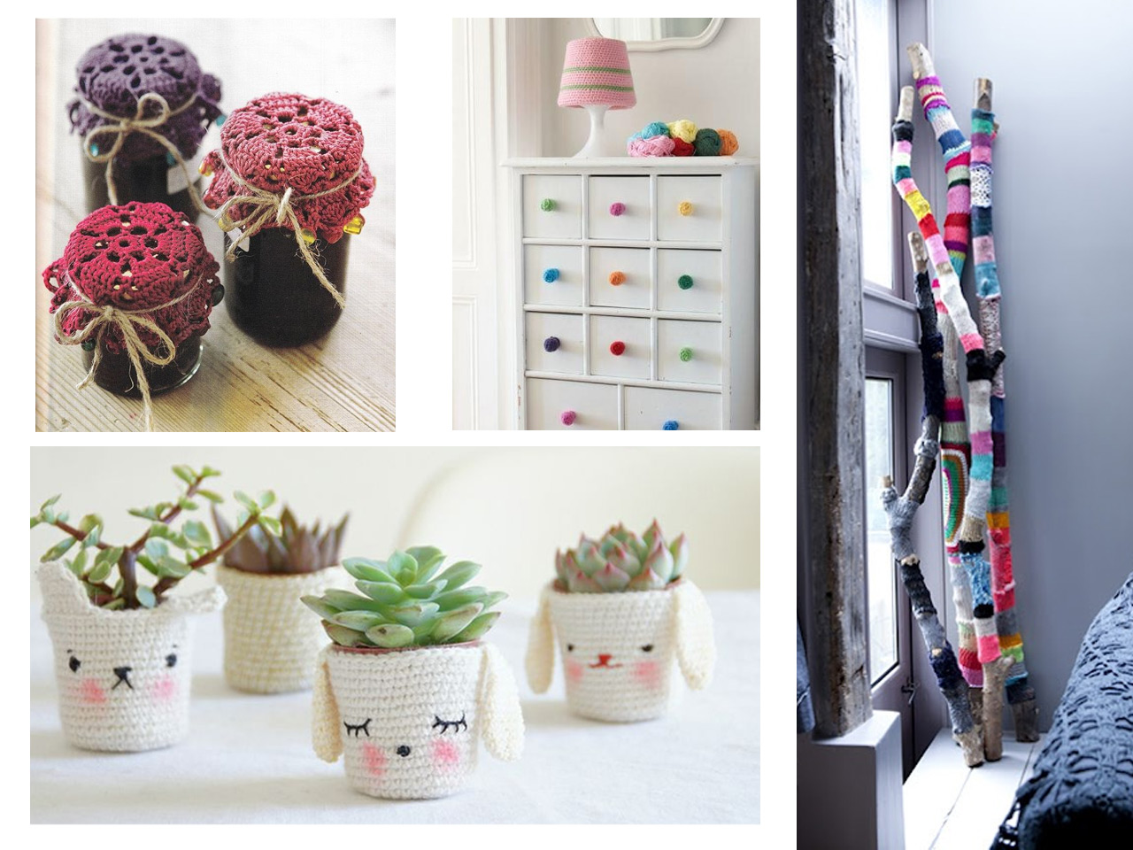 10 propuestas para decorar tu casa con crochet for Manualidades decoracion casa