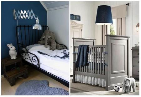 habitaciones infantiles: azul medianoche
