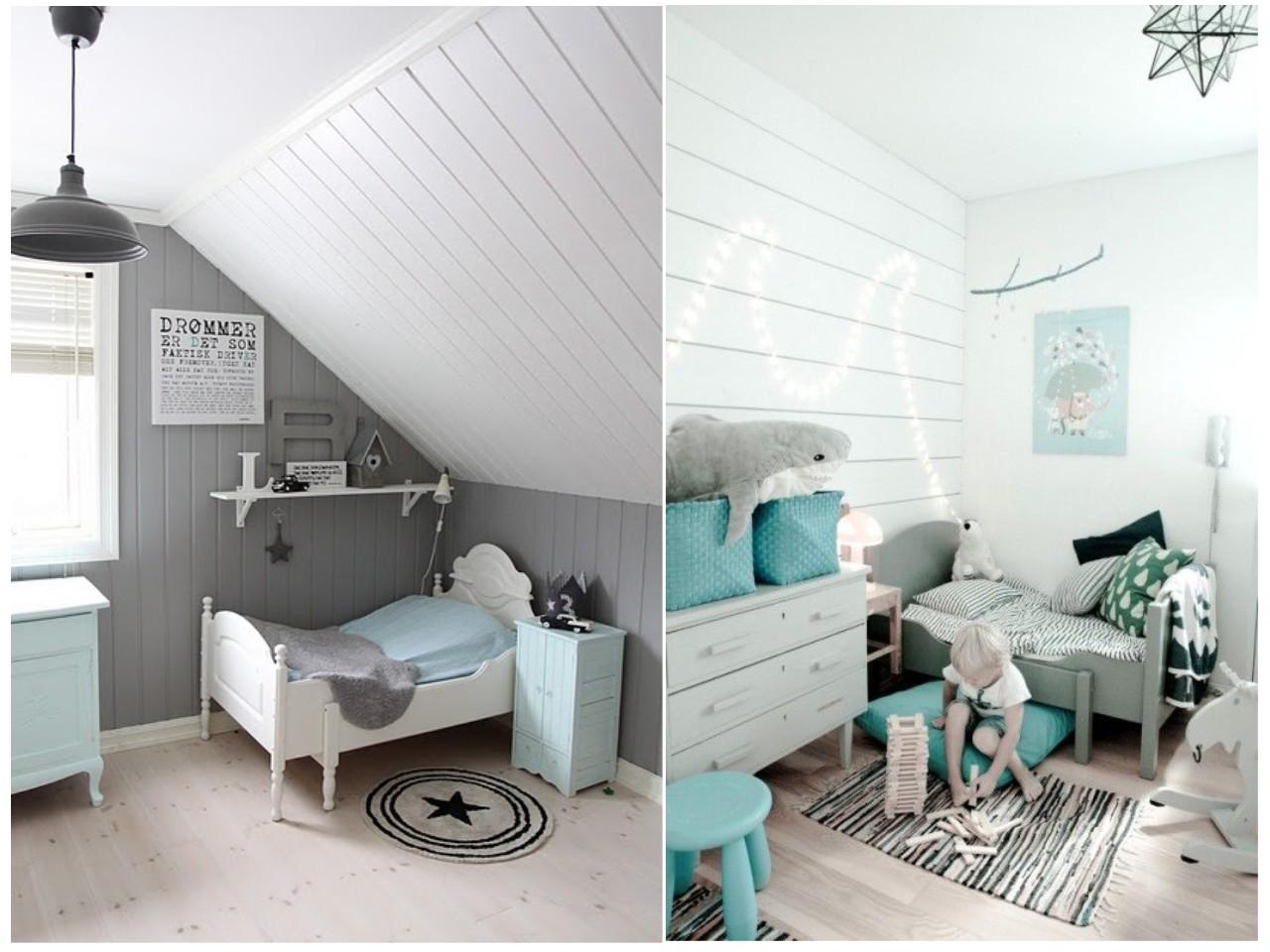 Habitaciones infantiles el gris no tiene porque ser for Pintura azul aguamarina