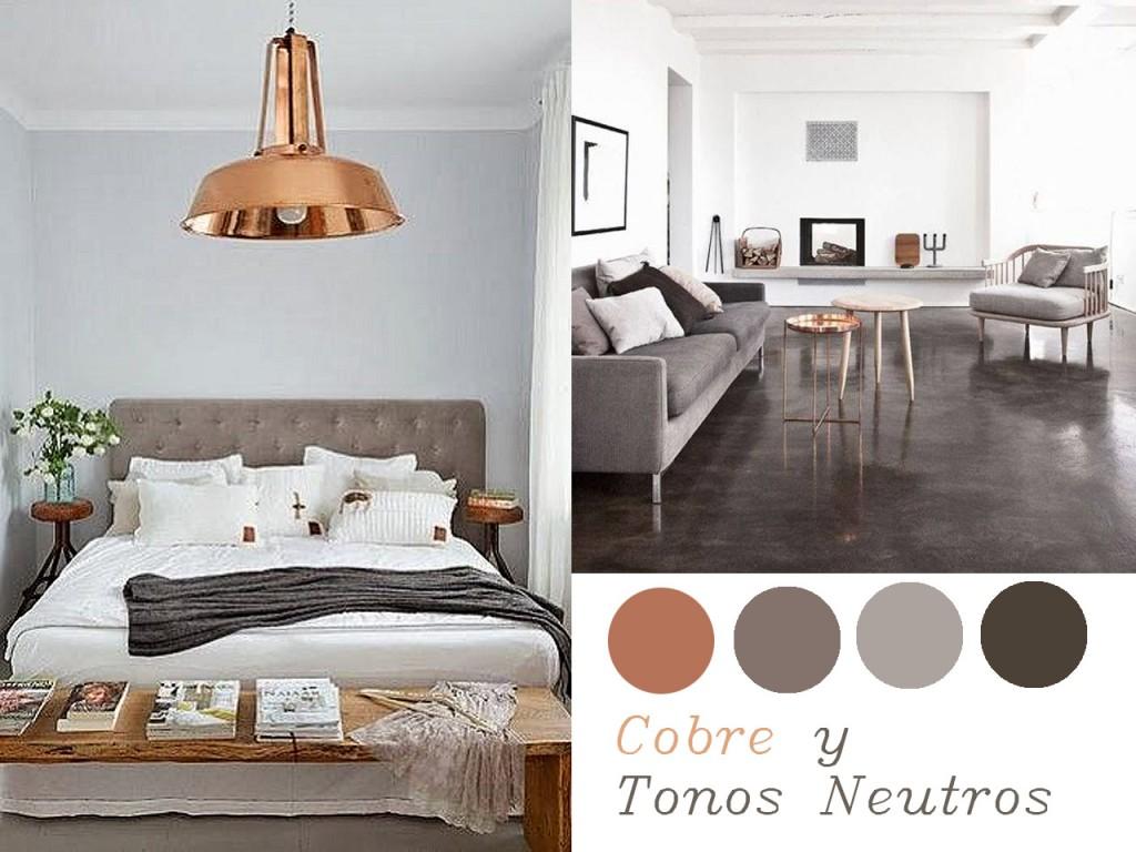 Colores que combinan con el cobre: tonos neutros
