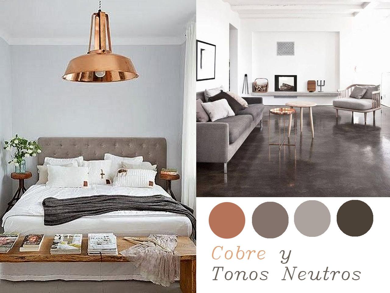 14 combinaciones impactantes de decoraci n con cobre - Adornos metalicos para pared ...