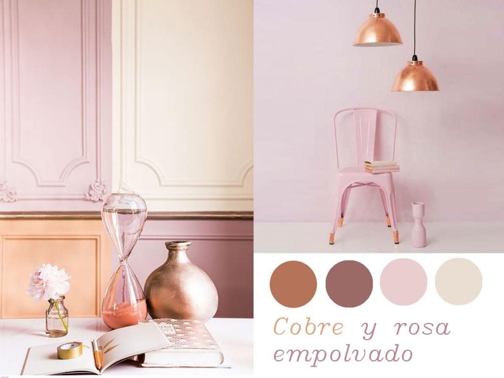 Colores que combinan con el cobre: rosa