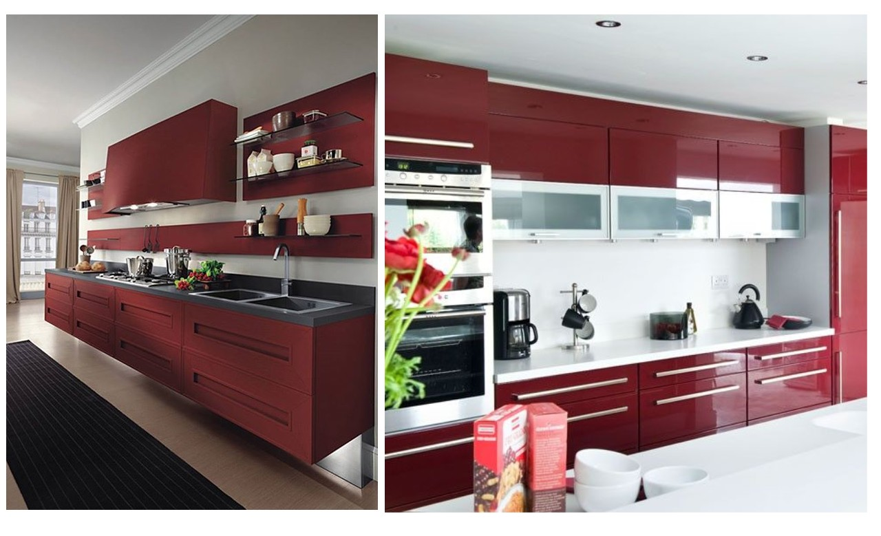 Cocinas color rojo beautiful cocina rojo with cocinas - Cocinas color rojo ...