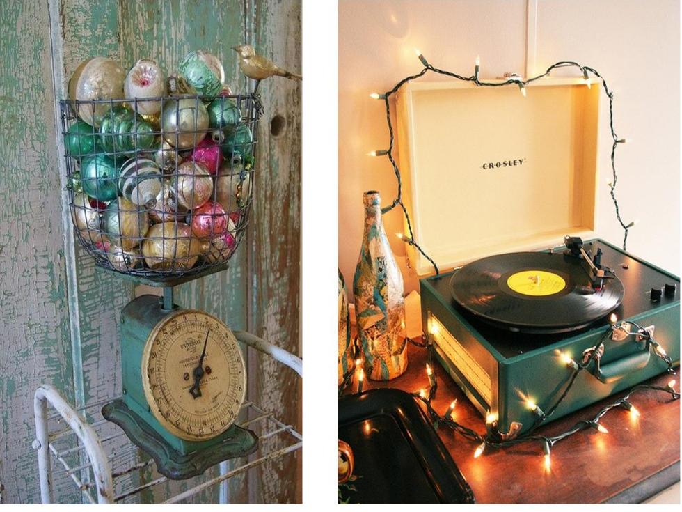 Decoración vintage para hacer la Navidad aún más bonita