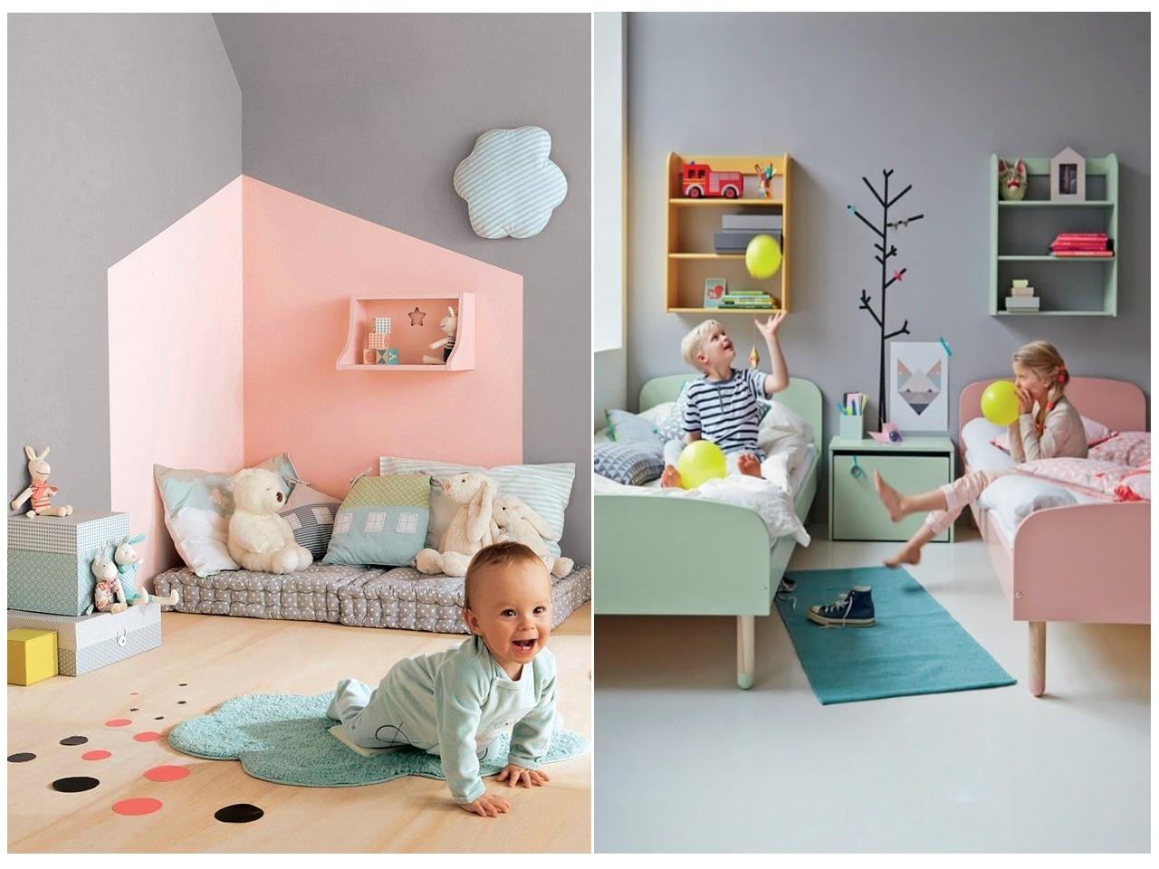 Habitaciones infantiles el gris no tiene porque ser - Habitaciones infantiles con dos camas ...