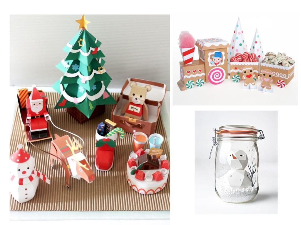 Muñecos de Navidad vistos en Irene's getting fat, Tren de gominolas visto en Fantastic toys y muñeco de nieve visto en Small for big.