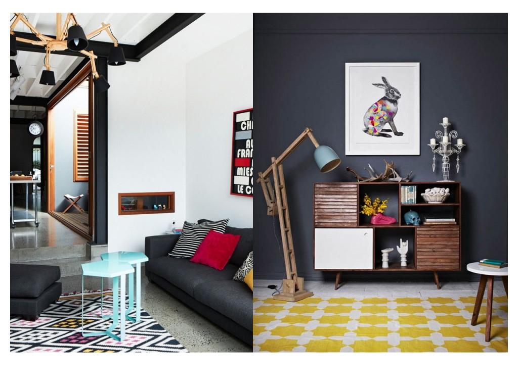 Imagen 1 vista en AP interiorismo e imagen 2 vista en The design files.