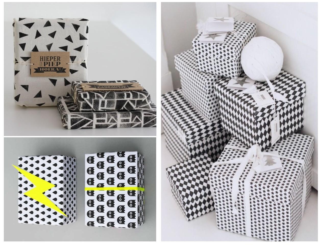 Decoraci n navidad m s ideas para envolver diferente - Decoracion blanco y negro ...