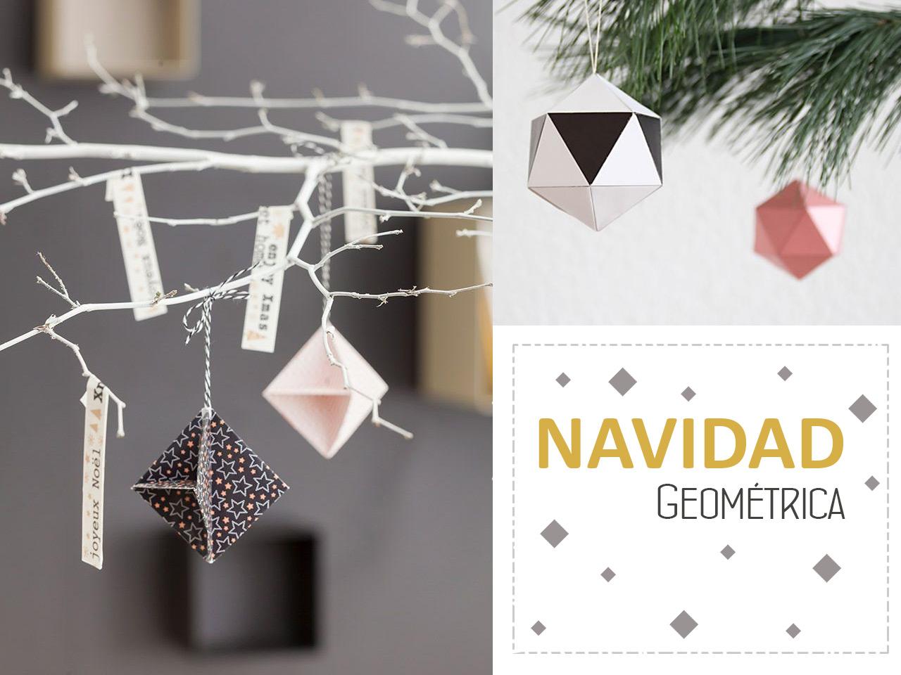 Decoración de Navidad: Inspiración geométrica
