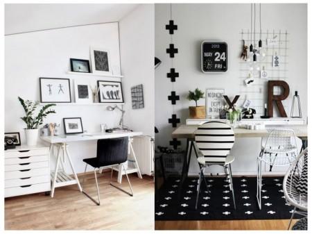 estudio en blanco y negro: pared blanca