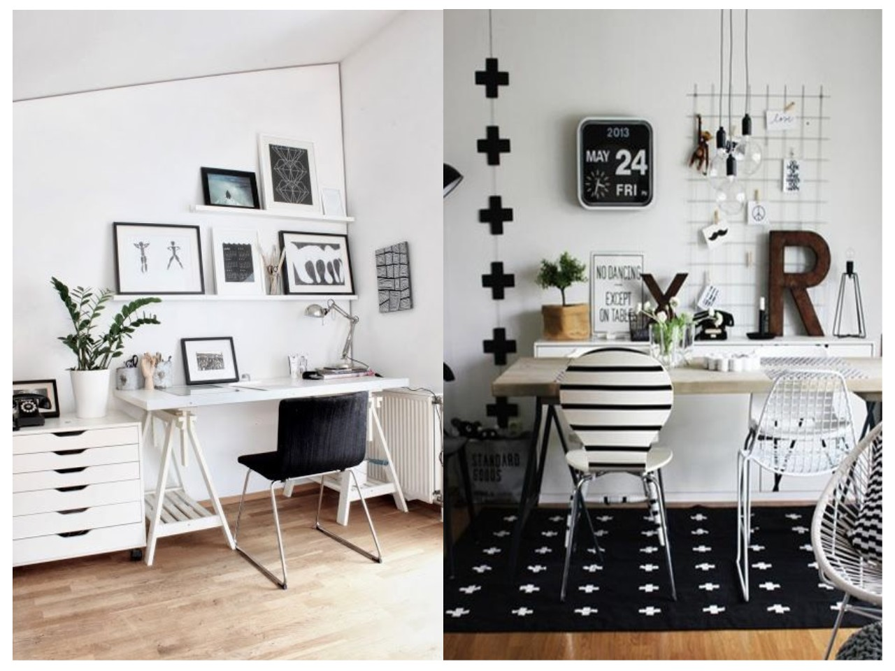 12 tips para conseguir un estudio en blanco y negro perfecto for Decoracion para pared negra