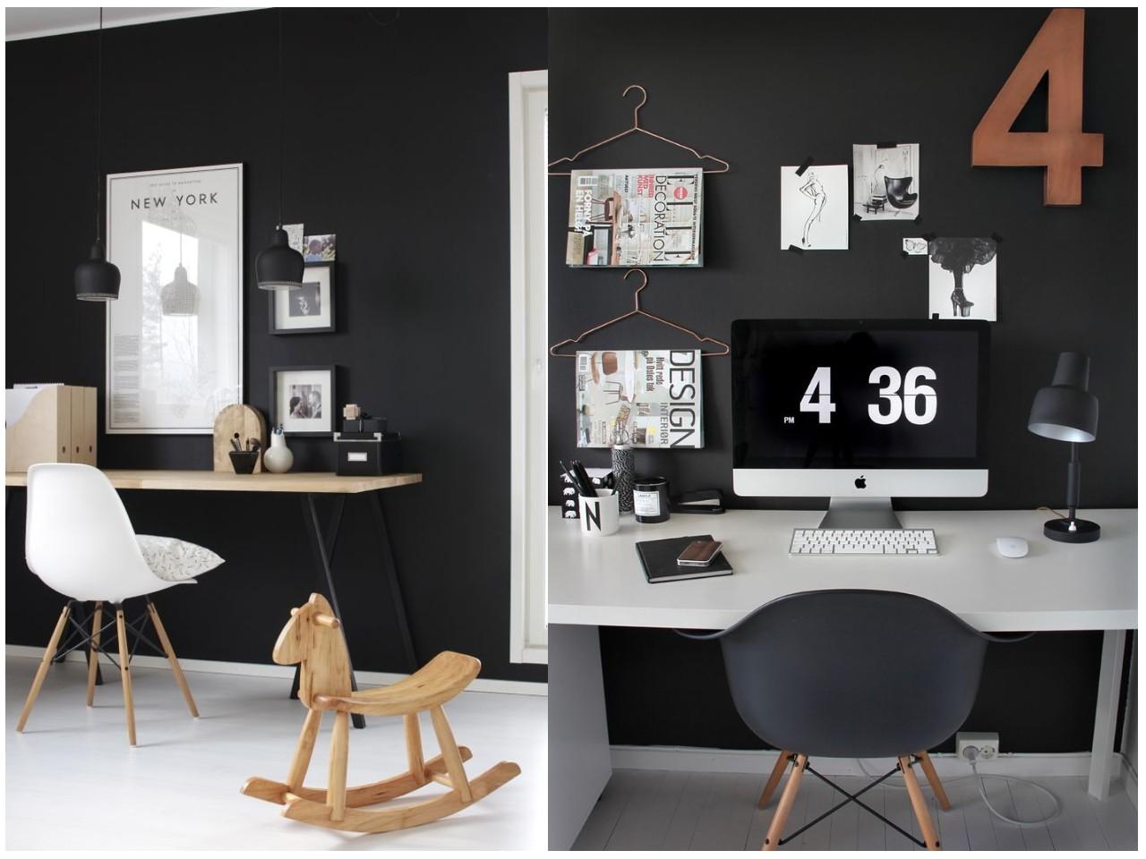 12 tips para conseguir un estudio en blanco y negro perfecto for Casa blanca muebles y decoracion