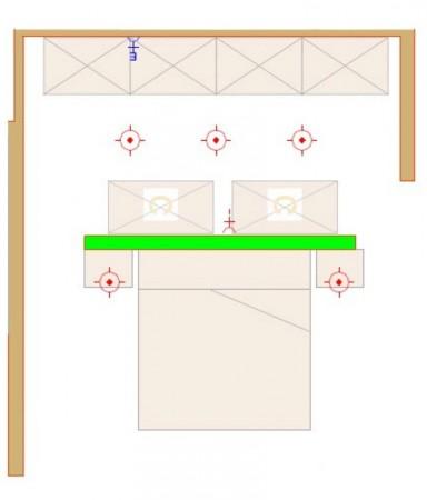 Decoración dormitorio: plano