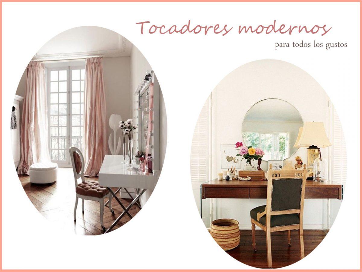 Tocadores modernos de dormitorios para todos los gustos