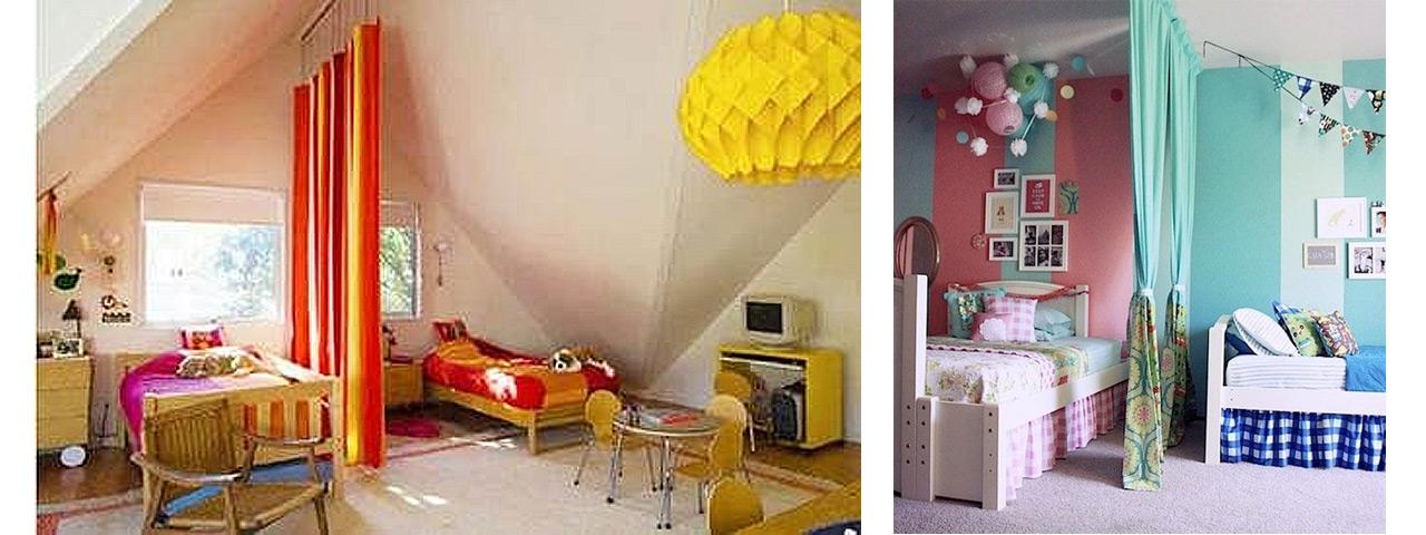 Dividir espacios abiertos con trucos decorativos for Recamaras infantiles economicas