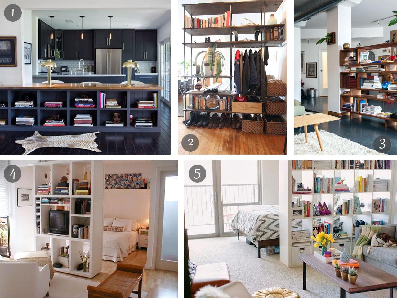 Dividir Espacios Abiertos Con Trucos Decorativos # Muebles Soluciones