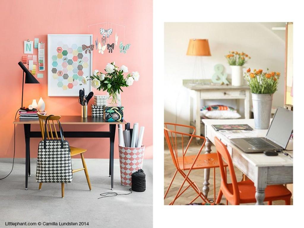 Decoración en color naranja : estudios