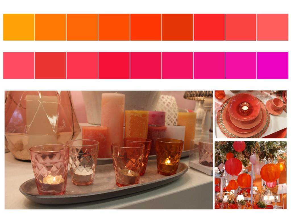 Del naranja al rosa pasando por el rojo.