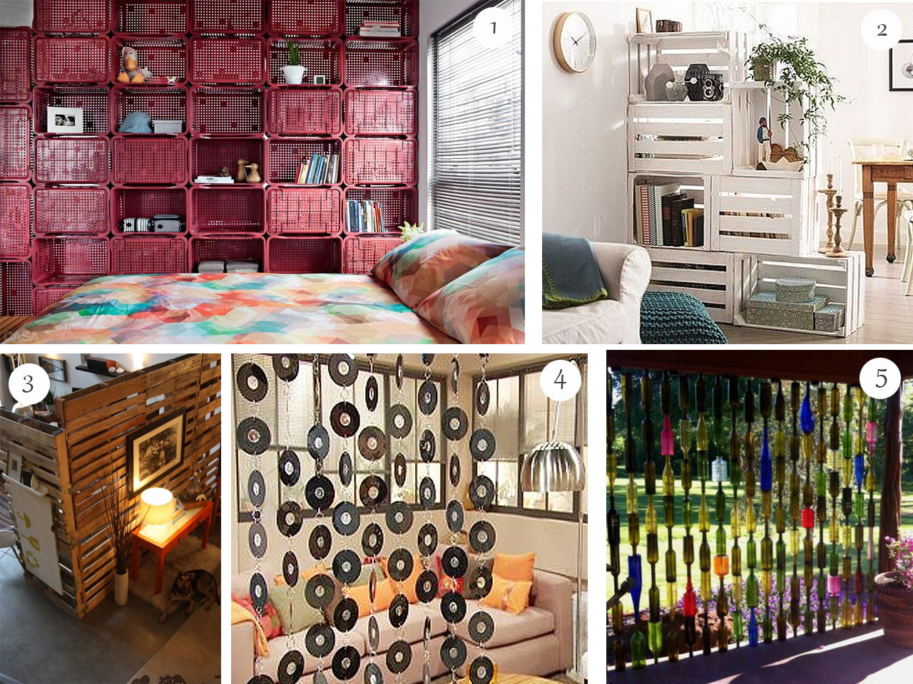 Dividir espacios abiertos con trucos decorativos