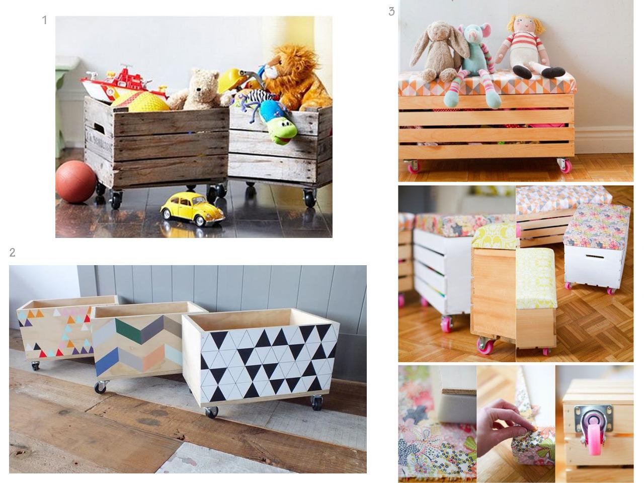 Muebles infantiles y fant sticas ideas para el cuarto de for Muebles para guardar juguetes