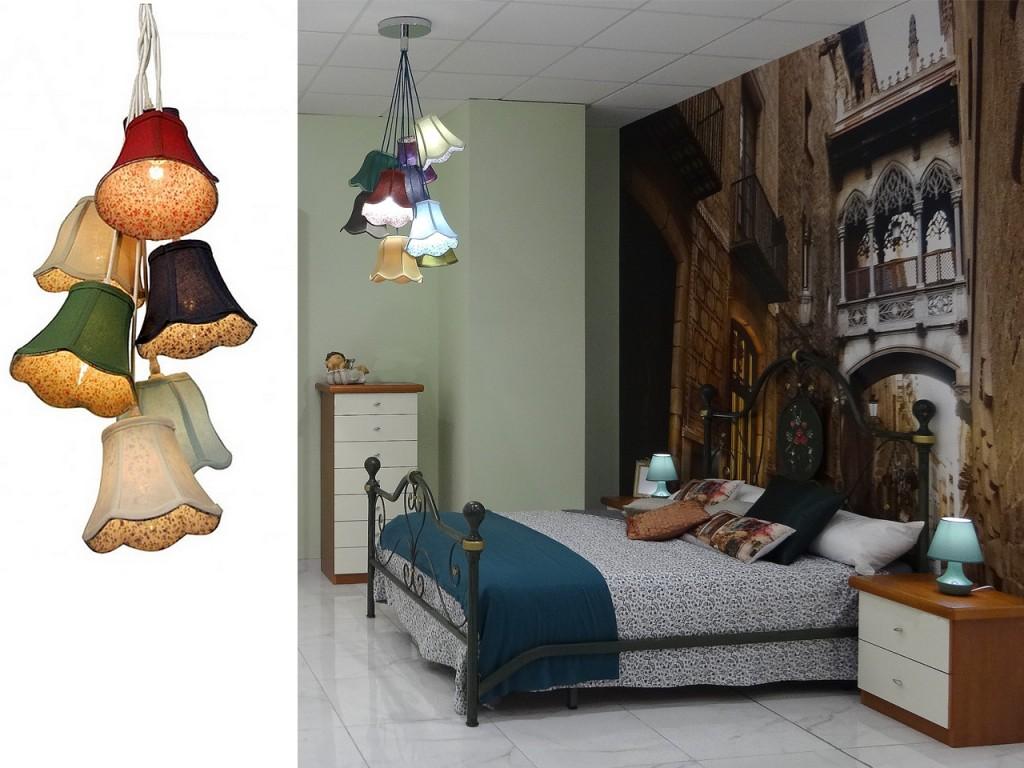 Modelo Saloon colores de la línea de lámparas originales de Dicoro.