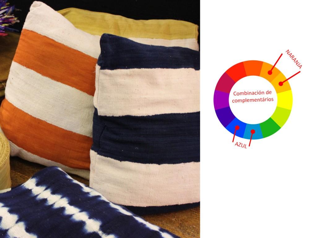 Decoración en color naranja : azul