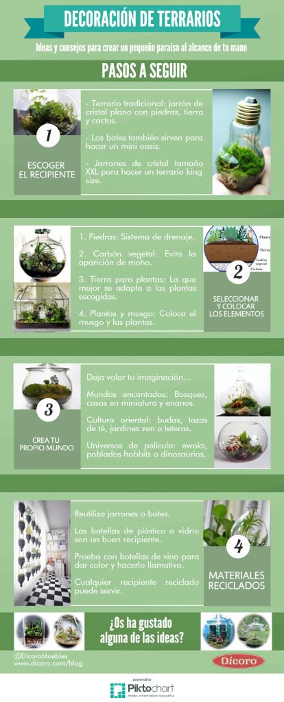 Infografía tendencias para decorar terrarios