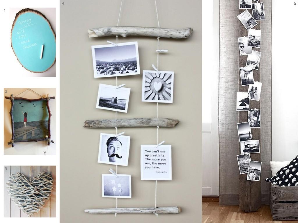 El bosque en casa ramas troncos y manualidades en madera - Maderas para decorar paredes ...