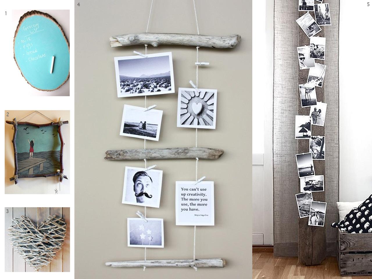 El bosque en casa ramas troncos y manualidades en madera - Manualidades para decorar paredes ...