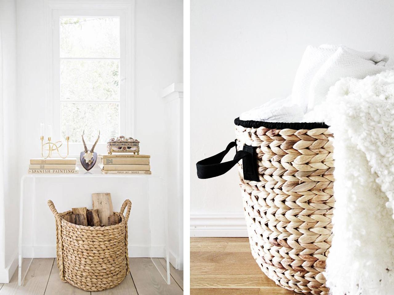 Todo vuelve decoraci m con cestas de mimbre y muebles de - Cestos de minbre ...