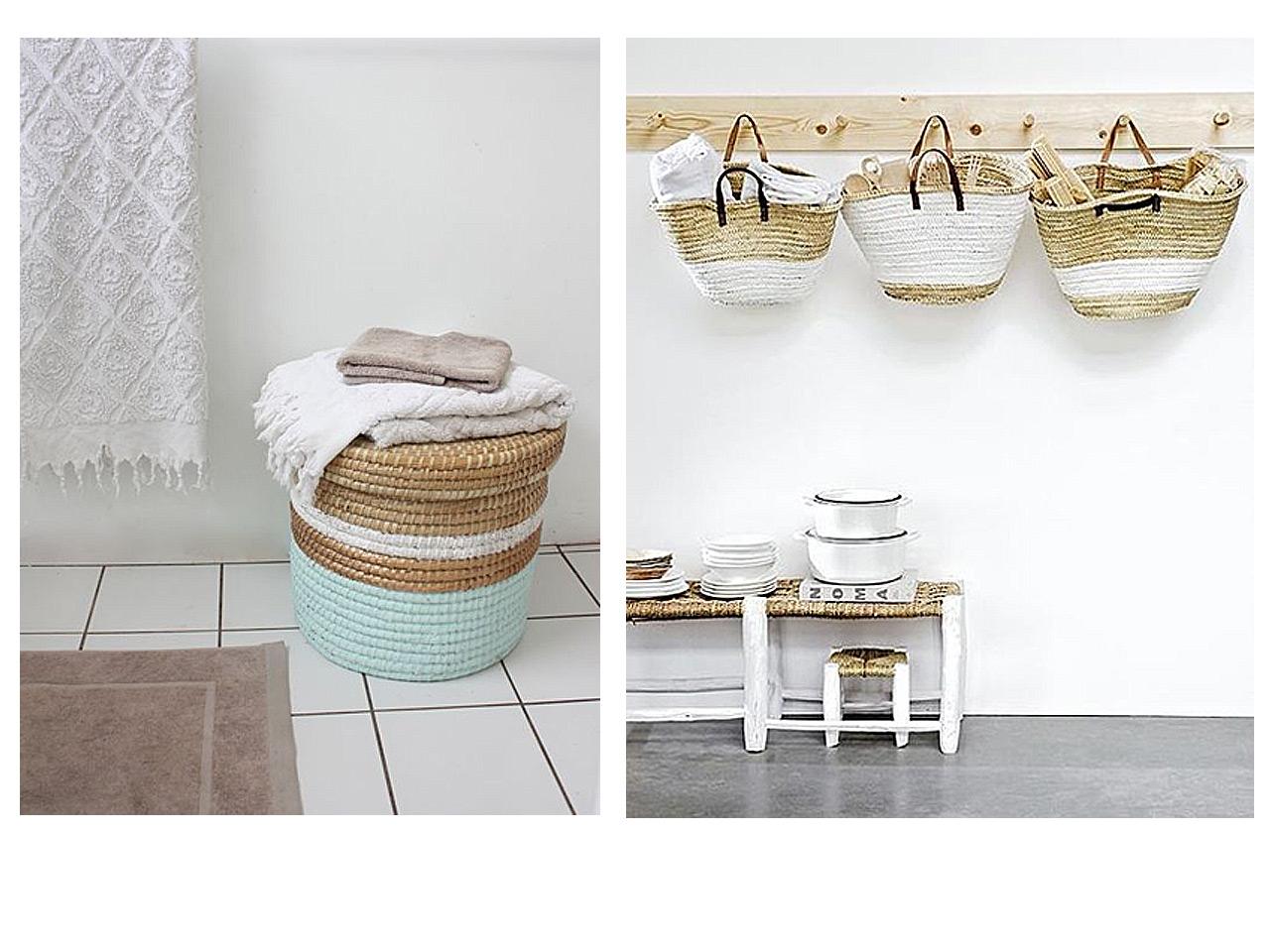 Todo vuelve decoraci m con cestas de mimbre y muebles de - Cestas de esparto ...