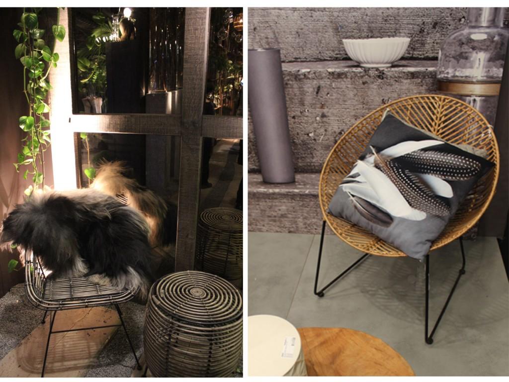 cestas de mimbre : muebles