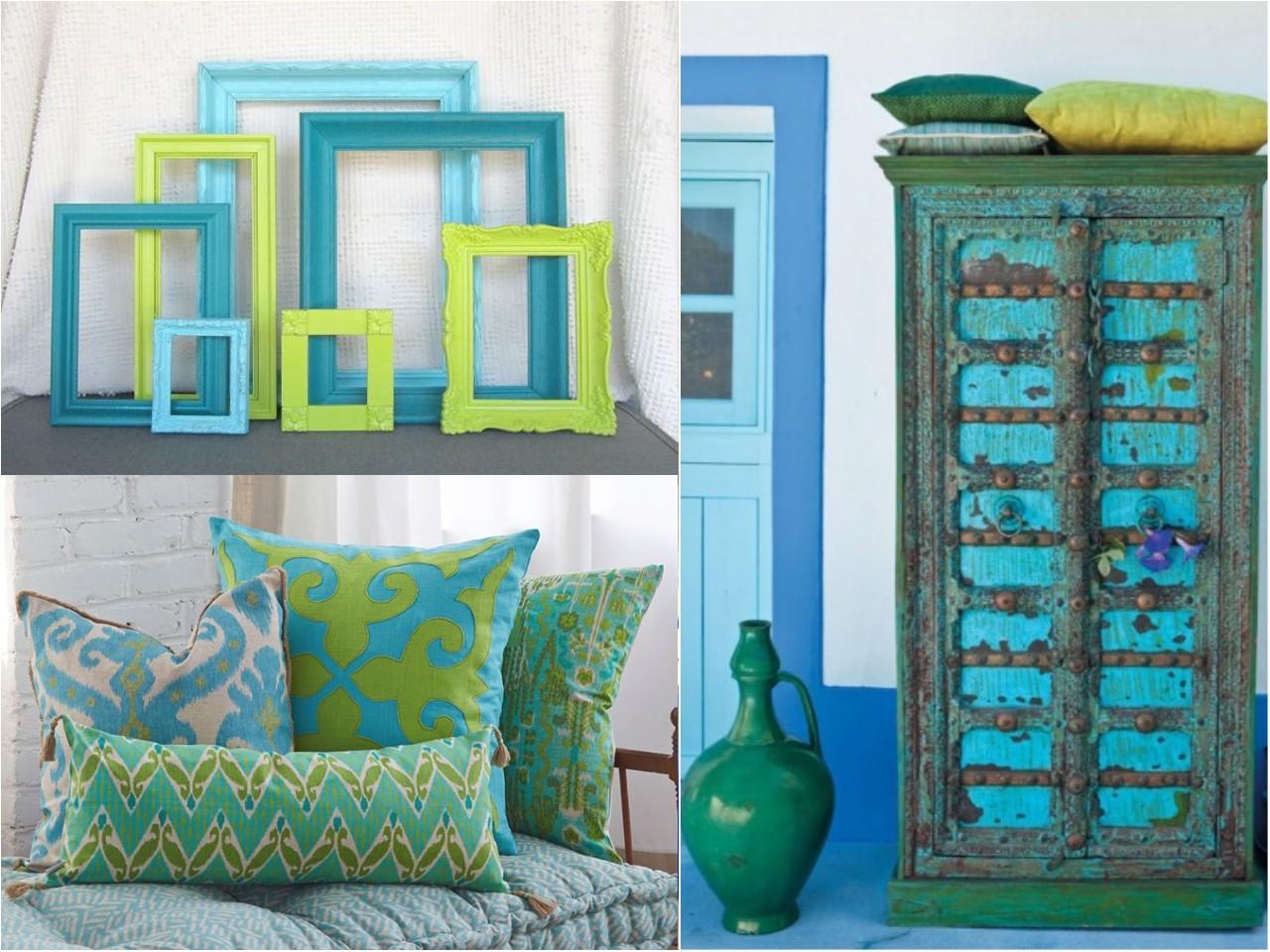 Decoraci n en color azul viaje a los mares del sur - Colores azules para paredes ...