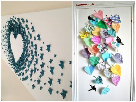 tendencias decoración 2015: cuadros de origami