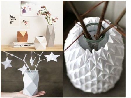 tendencias decoración 2015: jarrones origami