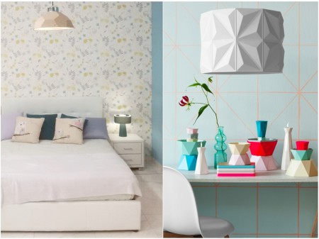 tendencias decoracion 2015: origami lamparas 2