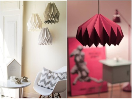 tenencias decoración 2015: origami papel