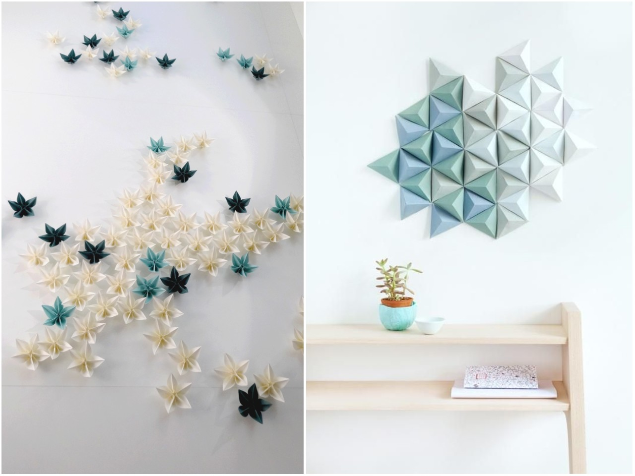 Tendencias decoraci n 2015 inspiraci n origami - Materiales para decorar paredes interiores ...