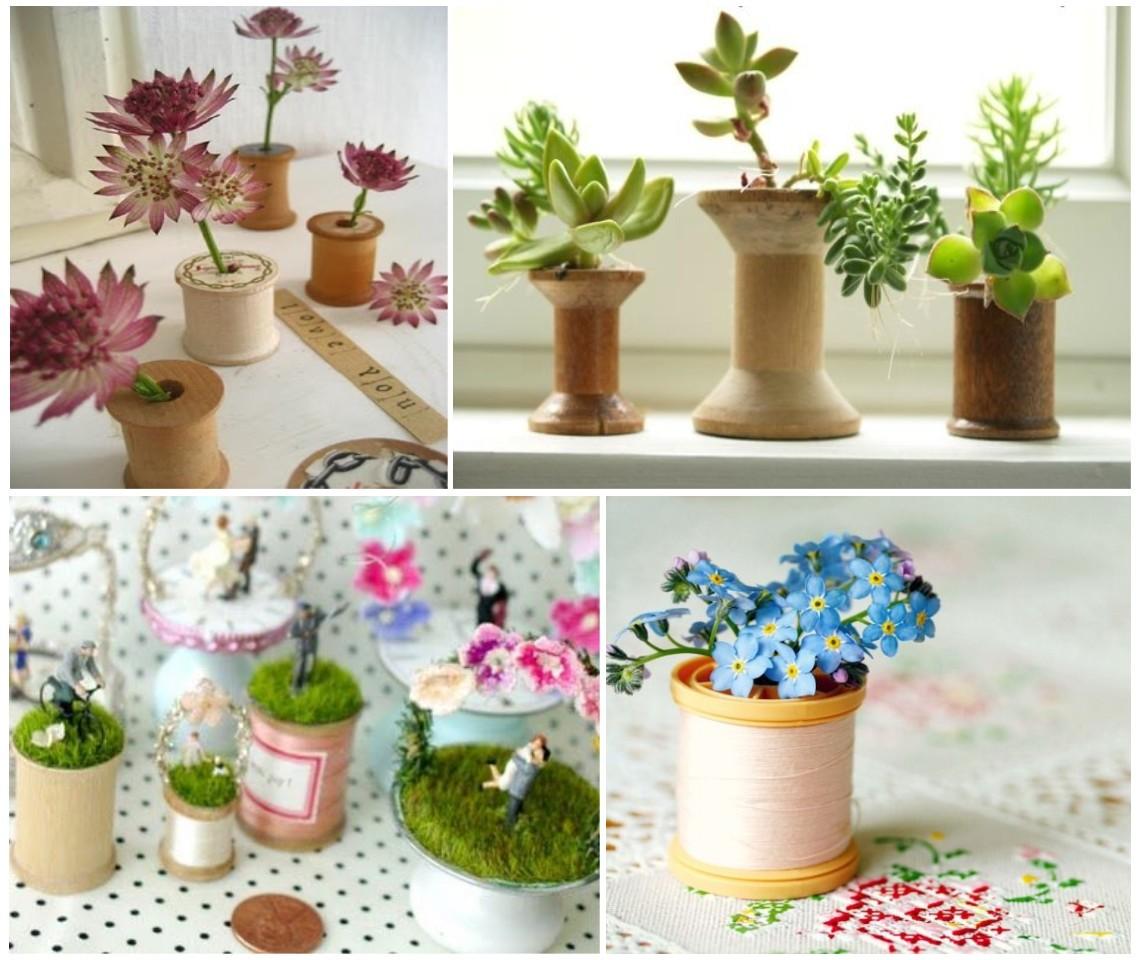 Decoraci n y manualidades con hilo for Decoracion con plantas miniatura