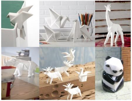 tendencias decoracion 2015: origami zoo