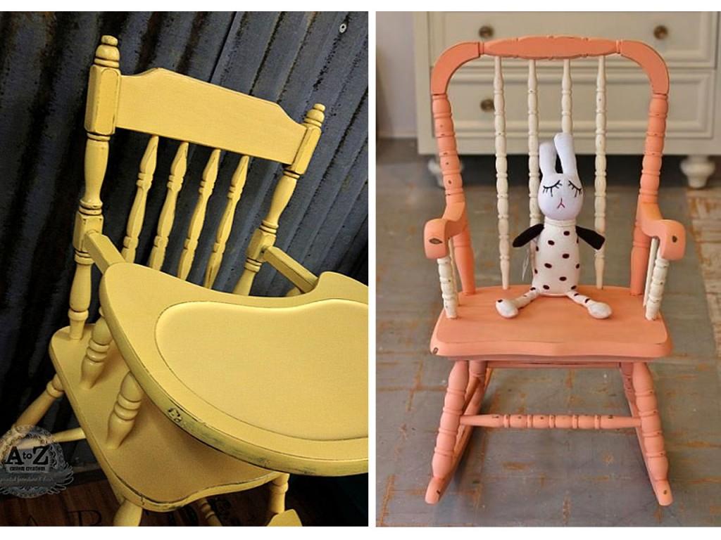 sillas con pinturas a la tiza