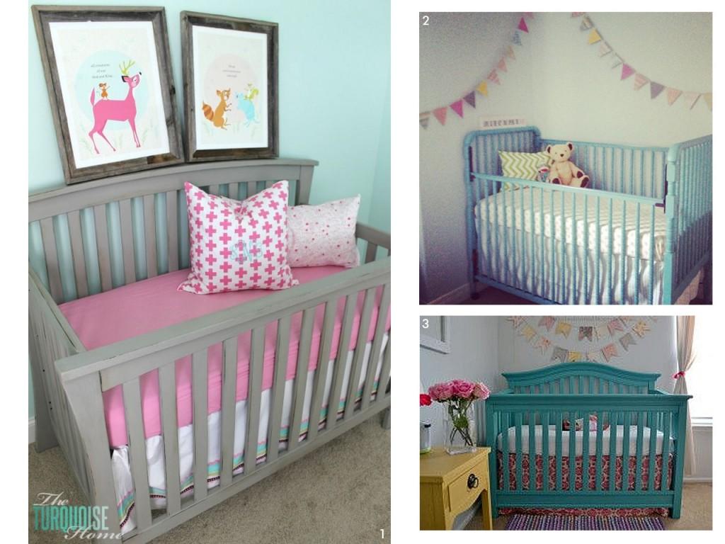 habitación de bebe con pinturas a la tiza