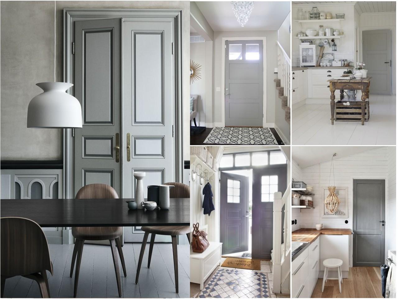 C mo pintar las puertas de casa ideas e inspiraci n for Paredes grises y puertas blancas